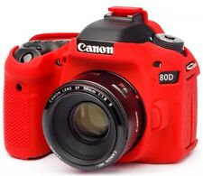 easyCover Canon 80D RED ECC80DR Protective Skin Camera Silicone Cover NWB