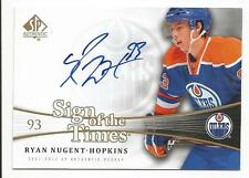 11-12 SP Authentic Ryan Nugent-Hopkins Auto Sign of the Times #SOT-RY
