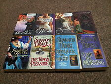 SHANNON DRAKE 8 historical romance books BEGUILED, THE KINGS PLEASURE, THE PIRAT