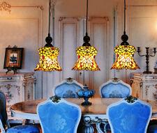 Makenier Vintage Tiffany 3-light Floral Dining Room Bar Pendant Lamp