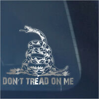 DON'T TREAD ON ME CLEAR VINYL DECAL STICKER FOR CAR OR TRUCK WINDOW,GADSDEN FLAG