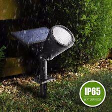 Solar Panel Powered LED Spotlight Spot Light Garden Lawn Outdoor Waterproof Lamp