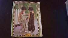 McCall's Pattern 3590 Girls' Mary Engelbreit Dress Jumpsuit Hat Sz 6-7-8 Uc Ff