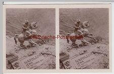 (f3035) Orig. stéréo photo Napoléon diorama, il y a 1945