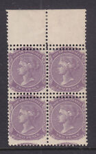 South Australia: 2d Violet Side Face Block Of 4 With Double Perf All 4 Stamps