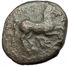 MARONEIA Thrace 400BC Authentic Ancient Greek Coin w HORSE & WINE GRAPES i62203