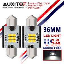 AUXITO 36MM LED Festoon Bulbs DE3423 White Map Dome Light Lisence Plate CANBUS