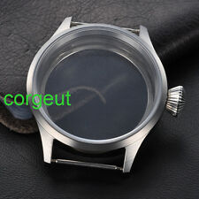 43mm Stainless Steel Case Sapphire Glass Fit ETA UNITAS 6497/6498 Movement