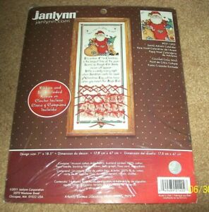 """Opened but Complete Janlynn """"Santa Advent Calendar"""" Counted Cross Stitch Kit #02"""