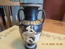 Vtg. Greece Reproduction Hand Painted Vase.Sacrifice Of A Boar #11/16