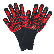 BBQ Grill Gloves Barbecue Silicone Heat Resistant Mitts Smoking Cooking Z GRILLS