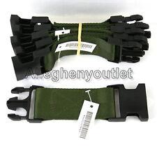"Qty 5 US Military Pistol Belt Extenders 6"" Quick Release USMC Black Buckle NEW"