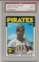 1986 TOPPS TRADED #11T BARRY BONDS,  PSA 9 MINT, ROOKIE, PIRATES  L@@K !