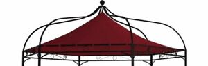 Ersatzdach Pavillondach Dachplane für Pavillon MODENA 6-eck, Farbe bordeaux  rot
