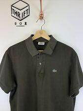 LACOSTE, Mens Size M (5), Khaki, Small Logo, Reg Fit Polo Shirt,*GC*