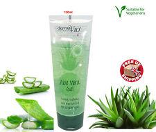 Derma V10 Organic Aloe Vera Vegan cooling Soothing Gel Skin Moisturiser 100ml