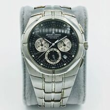 Jacques Lemans Chronograph W.R. 100M All Stainless Steel Mens Wrist Watch Runs