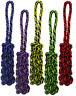 """Multipet NUTS FOR KNOTS Braided Rope Tug Stick Dog Toy 16"""" COLORS VARY"""
