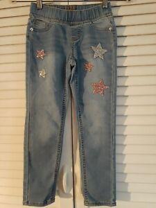 Justice embellished size 7 Mid rise legging jean girls