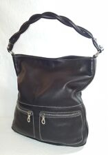 CO-LAB By Chris Kon Black Leather Hobo  Shoulder Bag Purse Made in Canada