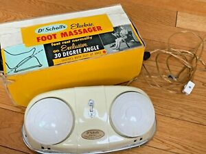 Vintage Classic Dr. Scholl's 411 Dual Head Electric Foot Massager Vibrator Ivory