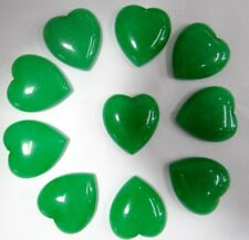 25*23mm green aventuri Gem heart CAB CABOCHON Flat Back Beads Jewelry Design