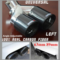 Dual Pipe Bent Style 63/89mm Adjustable Car SUV Modified Rear Tail Accessories