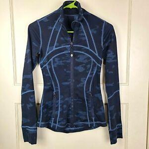 LULULEMON Define Jacket Heathered Texture Lotus Camo Oil Slick Blue Size: 2
