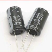 5PCS 470uF 100V 470MFD 100Volt Electrolytic Capacitor 16mm×25mm Radial