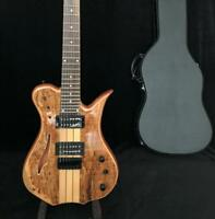 Supreme 7 Strings F hole Semi Hollow Body Neck Thru Body Electric Guitar Spalted