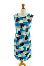Vintage orig 60er Kleid bunt Muster Schlager graphic dress Disco 46