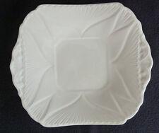 """Shelley FINE PORCELLANA cinese 21 cm Quadrato Piatto per torta """"Dainty"""" Bianco 272101"""