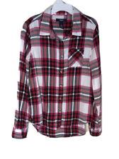 GAP Kids Girl's L Long Sleeve Red & White Flannel Shirt