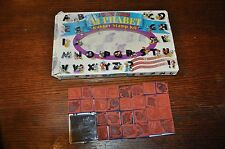 Rubber Stampede MICKEY MOUSE ALPHABET RUBBER STAMP KIT  & INK PAD FUN USA