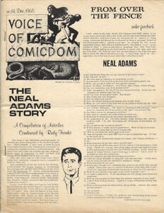 VOICE OF COMICDOM  no. 14 Fanzine