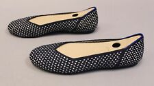 Rothy's The Flat Round Toe Ballet Flats Shoe HD3 Maritime Honeycomb US:9.5 UK:7