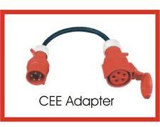CEE Adapter Starkstrom  32 A Stecker mit Phasenwender 16 A Kupplung 1 Mtr. 2,5