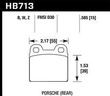 Disc Brake Pad Set-L Rear Hawk Perf HB713B.585