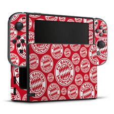 Nintendo Switch Folie Aufkleber Skin FC Bayern München Logos Hintergrund rot