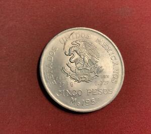 Mexiko 5 Pesos 1952 Silber