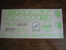 Giant XTC SE1 Stickers White, Green & Silver.