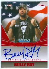 """BULLY RAY """"RED PARALLEL AUTOGRAPH CARD #03/50"""" TNA IMPACT GLORY 2013"""