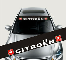 Car Styling Front Windshield Decal Vinyl Car Sticker for CITROEN Window Exterior