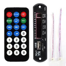 USB FM MP3 Audio Player Module WMA Board TF Fine Mini Remote Control Tool