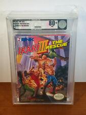 Ikari Warriors 3: The Rescue (NES, NEW III RARE VGA Authenticated & Graded 80+)