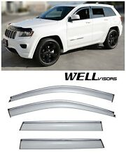For 11-UP Jeep Grand Cherokee WellVisors Side Window Visors W/ Chrome Trim