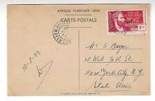 1942 Brazzaville Middle Congo, PPC General deGaulle, Auto Car New York 1Fr Libre