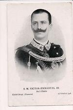 Vintage Postcard King Victor Emmanuel III of Italy