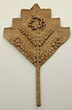 Handmade Vintage Straw Fan From American Samoa ca. 1940's, Immaculate Condition