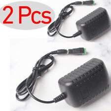 2 Pcs -XU AC 100-240V DC 12V 2A Wall Charger Power Supply Splitter Cable Adapter